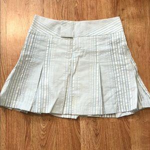 Alvin Valley seer sucker pleated skirt